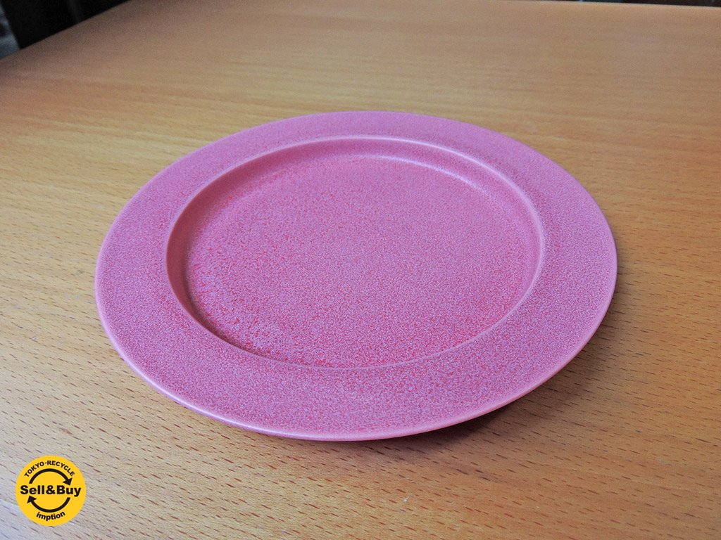 イイホシユミコ アンジュール unjour  gouter ソーサー プレート 皿 ピンク  B ■