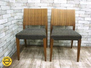 モーダ エン カーサ moda en casa  レグノ legno chair ウォールナット ダイニングチェア 2脚セット 座面カバーリングタイプ B ●