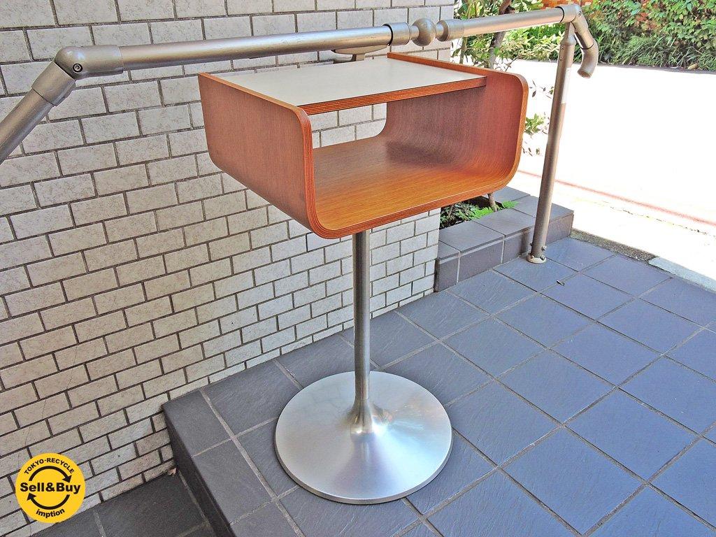 天童木工 Tendo ビンテージ テレフォンラック 電話台 / サイドテーブル オーク材 プライウッド メラミン天板 ■