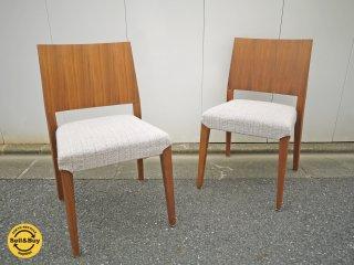 モーダ エン カーサ moda en casa レグノ legno chair ウォールナット ダイニングチェア 2脚セット 座面カバーリングタイプ A ◎
