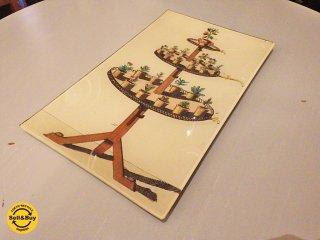 ジョン・デリアン JOHN DERIAN デコパージュプレート 飾り皿 C ■