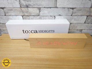 イデア IDEA to:ca トーカ 10DIGITS LED卓上木製クロック 置時計 岩崎広治 箱付き ●