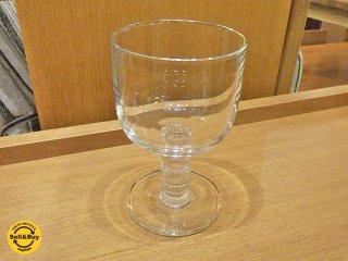 マリメッコ marimekko 脚付ワイングラス クリア 未使用品 A ■