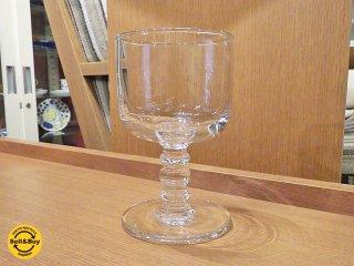 マリメッコ marimekko 脚付ワイングラス クリア 未使用品 B ■