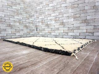 H.P.DECO 好奇心の小部屋 絨毯 ヴィンテージ ハンドメイド パイルラグ ウール w167x102cm モロッコ製 ●