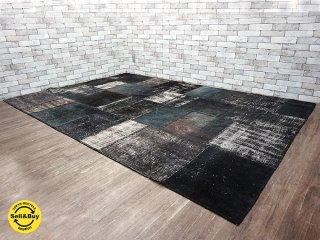 H.P.DECO 好奇心の小部屋woven fabric 織り生地 パッチワーク 大判 ラグ 305x206cm 定価30万円 フランス製 ●