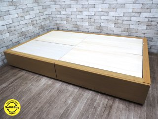 MUJI 無印良品 オーク材 収納ベッド フレームのみ セミダブルサイズ ナチュラルカラー ●