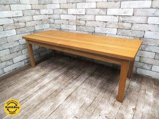 MUJI 無印良品 廃盤 タモ材 無垢材天板仕様 リビングテーブル ローテーブル w120cm ●