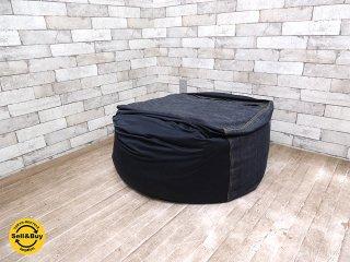 無印良品 MUJI ビーズクッション 体にフィットするソファ デニムカバーリングタイプ 65cmサイズ ●