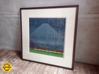 橋本興家 「 夜富士 」 167/200 オリジナル版画 1979年作 絵画 額装 ♪