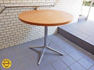 タイム&スタイル Time&Style パドル PUDDLE ラウンド カフェテーブル ウォールナット天板 ■