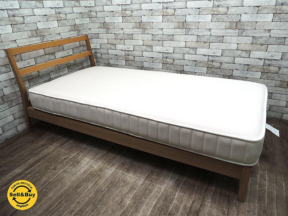 MUJI 無印良品 タモ材 シングルサイズ 木製ベッドフレーム