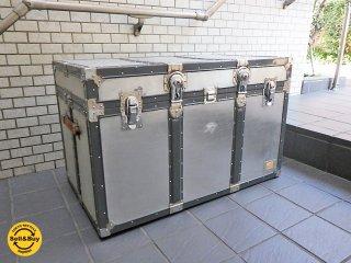 ビンテージ vintage アルミトランク trunk ボックス ローテーブル ■