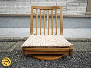 カリモク karimoku 木組シリーズ 回転座椅子 座布団付き B ◎