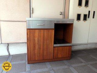 ウニコ unico ストラーダ STRADA キッチンカウンター オープン ステンレストップ 幅90cm ★