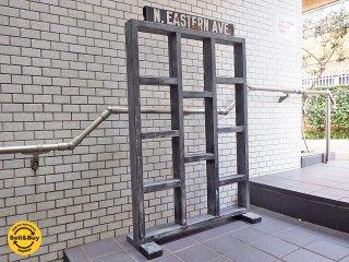 インダストリアルスタイル 木製 パーテーション 間仕切り 店舗什器 ■