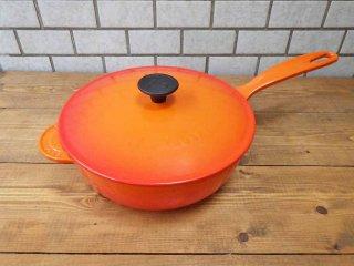 ルクルーゼ LE CREUSET ソーシエ ソースパン 21cm オレンジ 片手鍋 ■