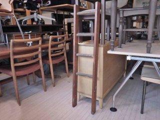 ビンテージ ウッドラダー 木製梯子 ディスプレイラック ハンガーラック 店舗什器 ★