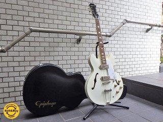 エピフォン Epiphone カジノ CASINO エレキギター フルアコ 希少ホワイト ハードケース付き ■