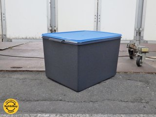 タッパーウェア Tupperware ウルトラ ディープスーパーケース 42リットル ネイビー x ブルー ★
