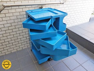 ビーライン B-LINE ボビーワゴン 3段5トレー 廃盤カラー エレクトリックブルー ジョエ・コロンボ ■