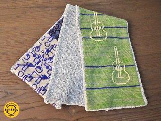 新品 紀編物製作 ハンドメイド ニット編み工房 マフラ— ギター 黄緑 ■
