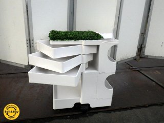 ビーライン B-LINE ボビーワゴン 2段3トレー ホワイト シャギーマット付 ジョエ・コロンボ メトロクス MoMA ★