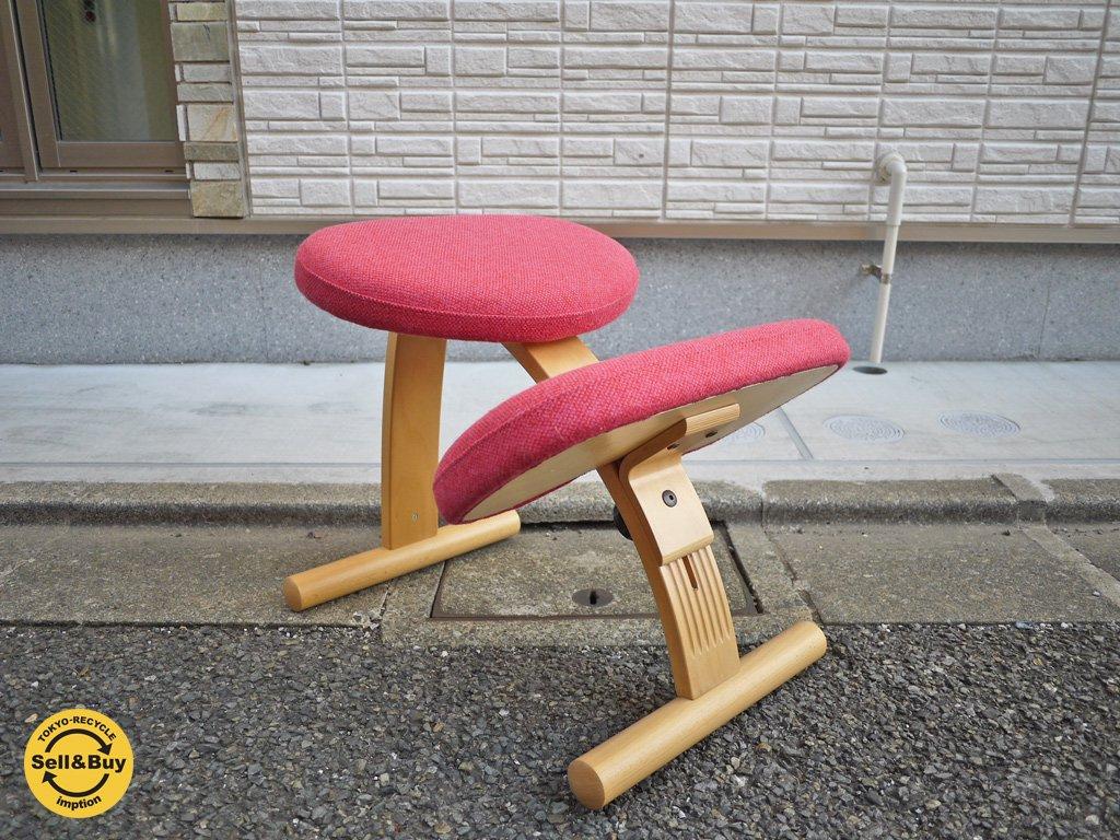 希少廃番カラー リボ Rybo バランス イージー チェア 学習椅子 北欧 ミックス ピンク  ノルウェー ◎