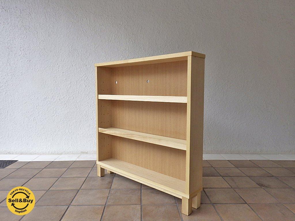 無印良品 MUJI 組み合わせて使える木製収納 ロータイプ タモ材 奥行14cm ◇