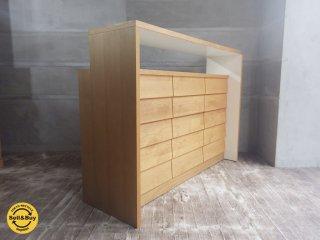 ウニコ unico トゥオ TUO キッチン カウンター シェルフ 棚板可動 アルダー材 ♪