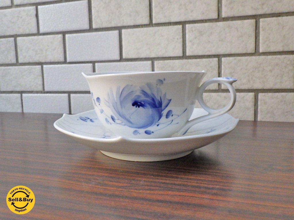 マイセン meissen 青い花 カップ&ソーサー 未使用品 B ■