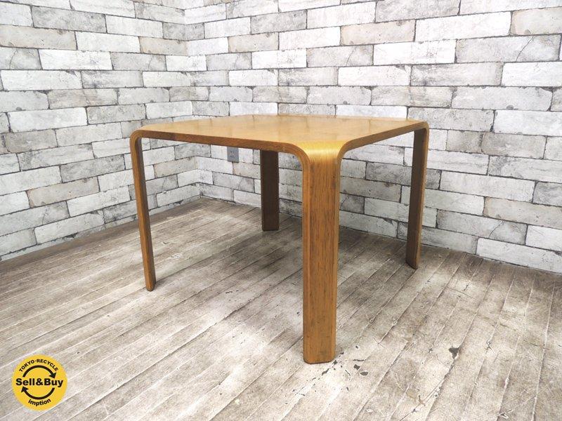 天童木工 TENDO 座卓 ローテーブル サイドテーブル 正方形 欅 乾三郎 ●