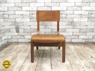 UKビンテージ 英国アンティーク スクールチェア プライウッド キッズ 子供椅子 ●