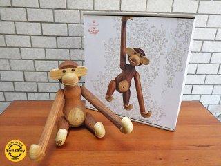 カイボイスン Kay Bojesen 木製フィギュア モンキー MONKEY Mサイズ 未使用品 箱付き ■