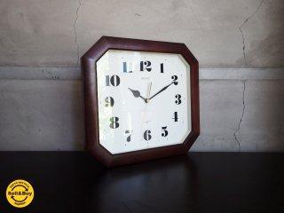 セイコー SEIKO ウッドフレーム レトロ ウォールクロック 壁掛け時計 クオーツ ♪