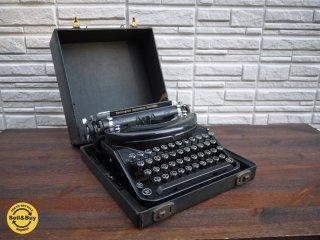 レミントン タイプライター remington noiseless portable 1930's USA ビンテージ 箱付き ◎
