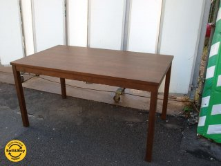 無印良品 MUJI バーチ材 ダイニングテーブル ブラウン W:140cm シンプルモダン 美品  ★