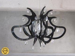 スランプ SLAMP リリベット LILLIBET ラージ ブラック クリスタル ペンダントランプ mobili italia 取り扱い♪
