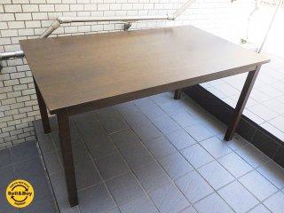 無印良品 MUJI タモ材 ダイニングテーブル ブラウン W140cm ■
