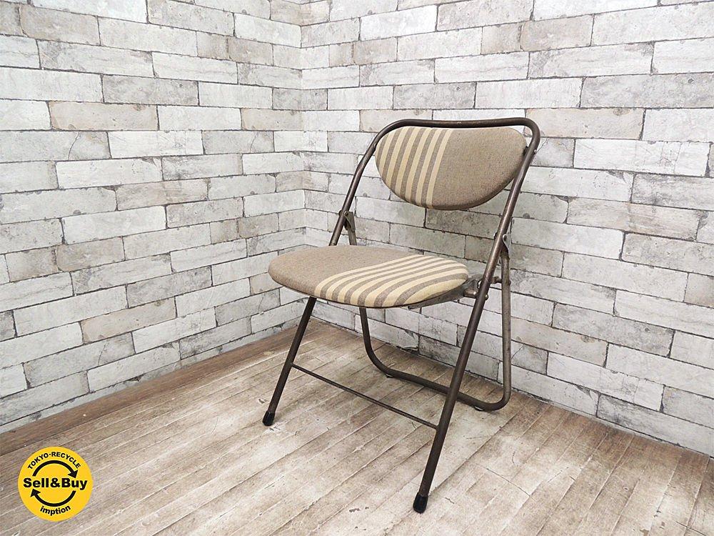 ナンセンス non sense リメイク ヴィンテージ フォールディングチェア パイプ椅子 A ●