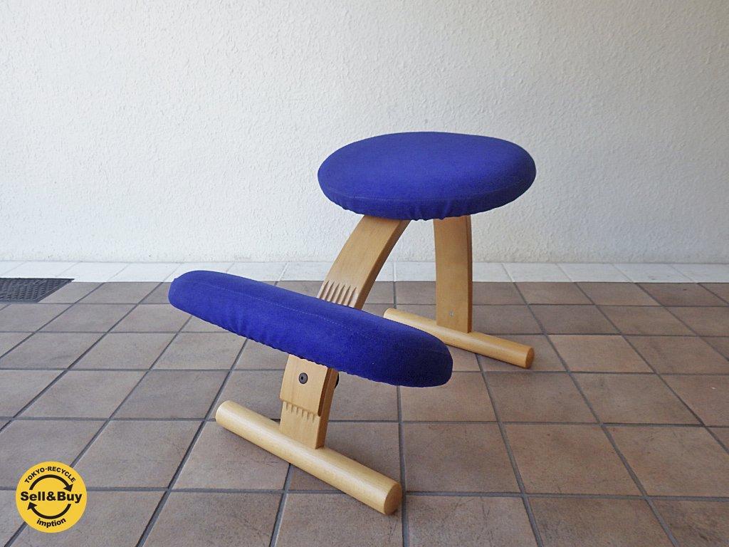リボ Rybo バランス イージー チェア Balans EASY 学習椅子 デスクチェア ネイビー カバー付き ◇