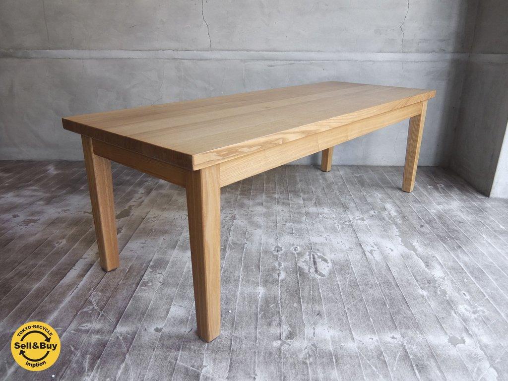 無印良品 MUJI 廃盤 タモ材 無垢材天板 リビングテーブル ローテーブル ♪