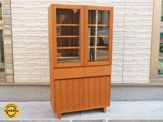 ウニコ unico コルソ CORSO シリーズ カップボード 食器棚 ガラスキャビネット オーク材 廃盤 ◎