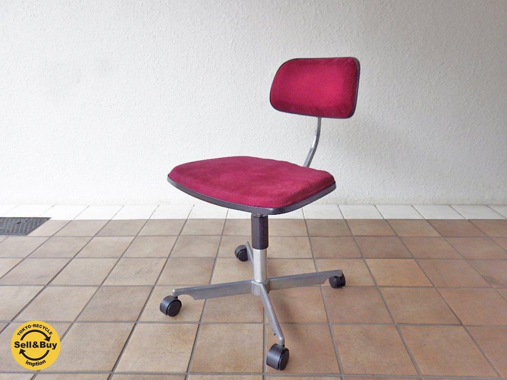 <img class='new_mark_img1' src='https://img.shop-pro.jp/img/new/icons20.gif' style='border:none;display:inline;margin:0px;padding:0px;width:auto;' />ケヴィ KEVI ケヴィチェア KEVI Chair 4本脚 クッションシート パープルカラー デスクチェア ビンテージ ◇