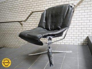 バットネ VATNE ファルコンチェア ラックス Falcon Chair LUX ローバック メタルフレーム シガード・レッセル Sigurl Resell ノルウェー 美品 希少 ■