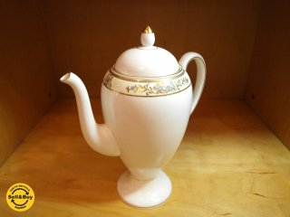 ウェッジウッド WEDGWOOD クリブデン Cliveden 廃番 希少な グローブシェイプ コーヒーポット 旧ロゴ 壺マーク ★