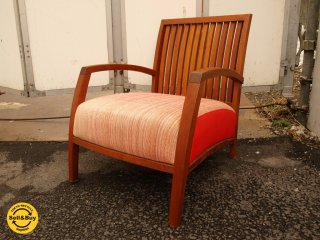 BC工房 チェア きらきら椅子アーム スモールサイズ チーク無垢材 フレーム 小楽 安楽椅子 ★