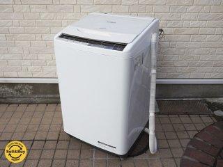 日立 HITACHI ビートウォッシュ 8kg ステンレス槽 洗濯機 2017年製 BW-V80A ●