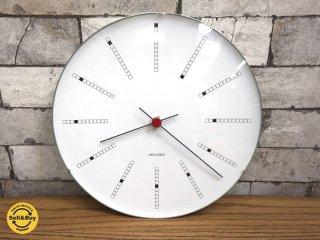 アルネヤコブセン ARNE JACOBSEN バンカーズクロック Wall Clock Bankers 290mm 掛け時計 ●