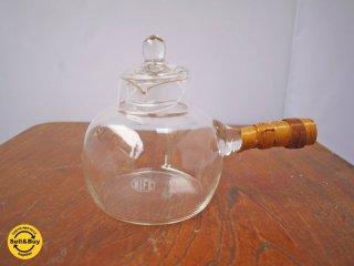 スウェーデンビンテージ NIFE ガラス製 ハンドルポット ■